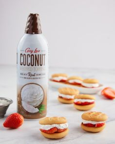 Healthy eating doesn't have to drive you coco-nuts! 🥥 Our Gay Lea Real Coconut Whipped Topping is made from pure coconut cream and is perfect for adding a touch of sweetness on any breakfast or dessert! Whipped Topping, Whipped Cream, Mini Strawberry Shortcake, Coconut Cream, Gay, Healthy Eating, Favorite Recipes, Touch, Pure Products