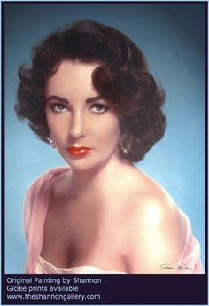 SHANNON has always been a huge fan of old Hollywood. She loves being commissioned to paint iconic legends such as this portrait of Elizabeth Taylor.