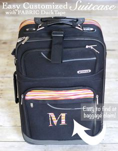Never Lose Your Suitcase Again!  Easy Customized Suitcase with Fabric Duck Tape®