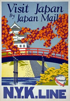 TX30-Vintage-1930-Visit-Japan-Japanese-Travel-Tourism-Poster-Re-Print-A4