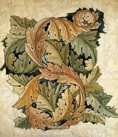 Acanthus, by William Morris. England, 19th century