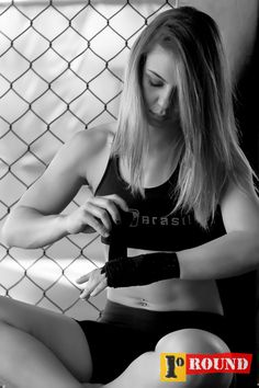 Nicolle Caliari #fighter #mma #girl #fists #taped #strong