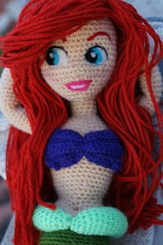 Patron Amigurumi Princesas Disney : Patron sirena amigurumi sirenas amigurumi Pinterest ...