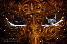 Wedding Rings (Sierra Blanco Photography) #masquerade #wedding #halloween