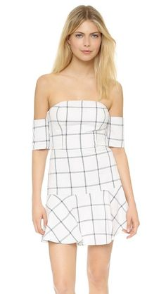Line & Dot Bisous Off Shoulder Dress