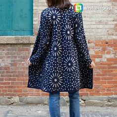 This is an Alabama Chanin community sewing project organized by @ch_chitnis. I stitched the back panel of this coat and am so thrilled to see it together. More details about the project are on the Alabama Chanin blog today. #schoolofmaking #alabamachanin #handmadewardrobe