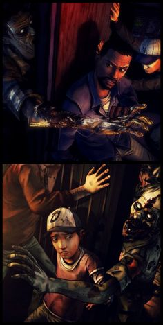 Telltale game's The Walking Dead (S1 & S2 photo comparisons) : Lee & Clementine
