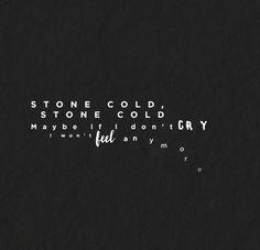 stone cold lyrics - Google Search