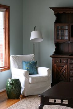Behr Valley Mist paint (already in my living and dining rooms).