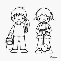 Dibujos para colorear. Maestra de Infantil y Primaria.: El colegio. Dibujos para colorear igual que el modelo. Colouring Pages, Coloring Sheets, Coloring Books, Preschool Pictures, Camping Theme, Felt Dolls, Cartoon Kids, Art Plastique, Coloring Pages For Kids