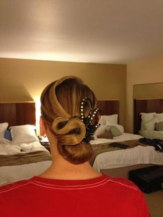 When you go to competitions with students you will learn the art of Ballroom hair