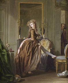 Michel Garnier Elégante à sa toilette 1796