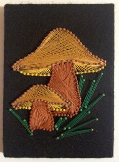 1960s Mushroom String Art Wall Hanging by Dust2Den on Etsy, $15.00