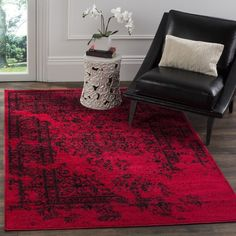 Safavieh Adirondack Red Rug ($43) ❤ liked on Polyvore featuring home, rugs, red, loom rugs, patterned rugs, pile rug, woven area rugs and red rug