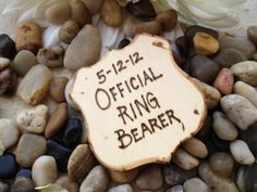 Gift for Ring Bearer Police Style Badge Official Ring Bearer Honor Cop Pin Rustic Wedding Decoration. $9.99, via Etsy.