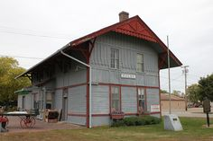 Chicago, Milwaukee, St. Paul and Pacific (Milwaukee Road) Railroad Depot in Fulda, Minnesota. Constructed in 1880, it is the last Eastlake-style 2 story depot in Southwestern Minnesota. The depot was listed on the National Register of Historic Places in 1979, NRHP Reference  # 79003716.