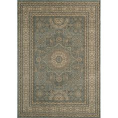 "Overstock - Preston Blue Tabriz rug. Inspired by Persian textiles and antique rugs$279.99 7'10"" by 9'10"""