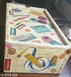 Costurero de una caja de vino | Aprender manualidades es facilisimo.com