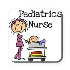 PEDIATRICSNURSE.png Square Coaster