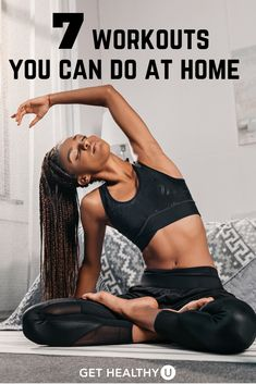 Stuck at home? Self-quarantining? These 7 at-home strength workouts will help keep your sane as you get your sweat on in the comfort of your own home. Mini Workouts, Killer Workouts, Easy Workouts, At Home Workouts, Core Workouts, Morning Workouts, Daily Yoga Routine, Yoga Routines, Best At Home Workout