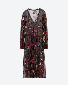 vestido zara embroireded - Pesquisa Google
