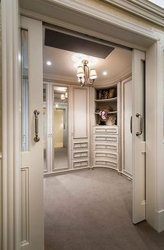 Dressing Room Ideas - Close off with double doors