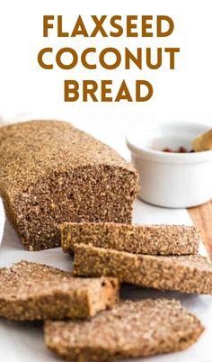 Best Nutrition Food, Health And Nutrition, Fitness Nutrition, Health Diet, Healthy Food, Flaxseed Bread, Bon Dessert, Easy Bread Recipes, Ketogenic Recipes