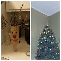 Christmas Tree Topper - Wine bottle DIY Christmas Tree Toppers, Diy Christmas Ornaments, Christmas Crafts, Xmas, Christmas Ideas, Wine Bottle Glasses, Wine Bottle Art, Beer Bottles, Arts And Crafts
