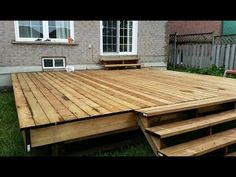 FLOATING DECK MADE EASY. STEP BY STEP INSTRUCTIONS FOR BEGINNERS. PLUS STAIRS.. - YouTube