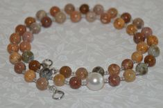$20% OFF SITEWIDE (20OFF) - Ocean Opals and Pearl Necklace and Earring Set by ItsTheBeads
