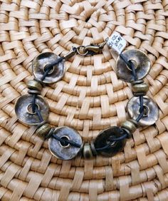 Brass Washers Bracelet handmade in South Africa, Fair Trade $10.99