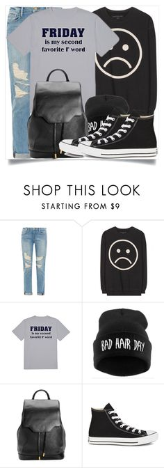 """""""School Wear"""" by madeinmalaysia ❤ liked on Polyvore featuring Frame Denim, Marc by Marc Jacobs, rag & bone and Converse"""