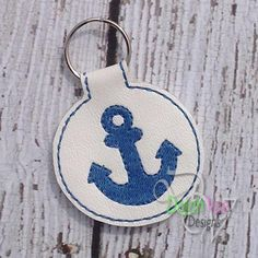Anchor Keyfob ITHEmboidey Design