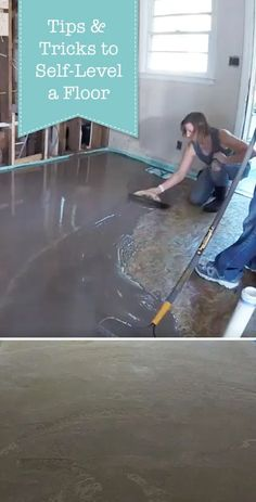 Pretty Handy Girl shares her tips & tricks on how to use self-leveler to fix a sagging floor. Bonus, she will show you a few tools you'll find helpful when pouring self leveler.