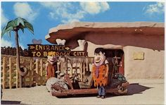 The Flintstones Bedrock City (theme park and campground), Custer, South Dakota (situated in the Black Hills)