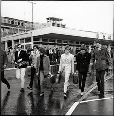 The Beatles arriving at Hamburg Airport photo by Günter Zint