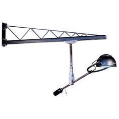 Swing Arm Crane - Rolling Rail Articulated Lamp - US Industrial Lighting, Sconce Lighting, Welded Furniture, Roller Design, Study Lamps, Modern Wall Lights, Cool Lamps, Led Floor Lamp, Welding Projects