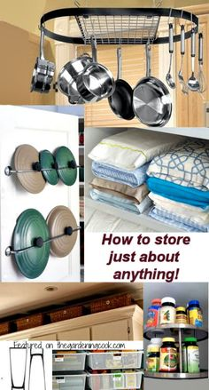 How to store just about anything.  Tips for large and unusually shaped items