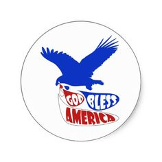 God Bless America Eagle Crying for Freedom Stickers