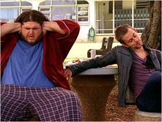 There are so many great things about this picture of Hurley and Charlie