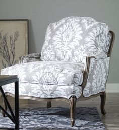 With its delightful hand carved detailing and a generous seating area, Versailles makes a great addition to your cozy living room. Living Room Chairs, Bergere Chair Makeover, Decor, Furniture, Ethan Allen Living Room, Furniture Shop, Chair Makeover, Upholstery, Furniture Fabric