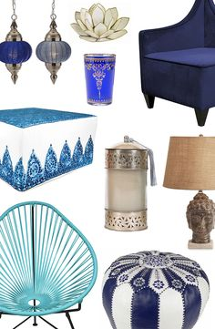 Sooth Your Senses With the Dreamy Blues and Vibrant Patterns of Eclectic Bo-Ho Décor Blue Furniture, Plywood Furniture, Modern Furniture, Furniture Design, Interior And Exterior, Interior Design, New Room, Furniture Collection, Bo Ho