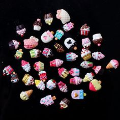 Big Deal !!! Cute 3D Nail Art Mix Ice Cream   Cup Cake mix design decor  20pcs Random Style
