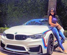 BMW F82 M4 white ///M stripe