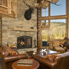 Traditional Living Room River Rock Fireplace Design, Pictures, Remodel, Decor and Ideas - page 8