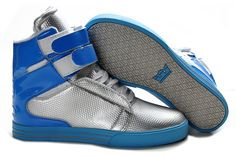 2013 Supra TK Society Men Sliver Blue Leather Shoes