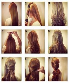 New Best Quick and Simple Hair Style pics Tutorial ..