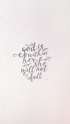 God is within her..