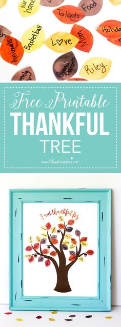 This FREE Printable Thankful Tree is the perfect activity for Thanksgiving this year. Get your whole family to participate in this fun and easy craft!