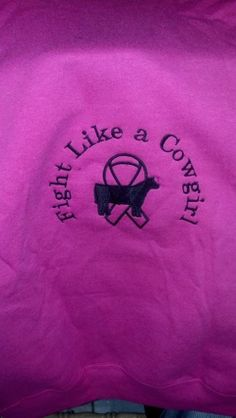 Fight like a cowgirl breast cancer hoodie by Blackhatlivestock, $35.00